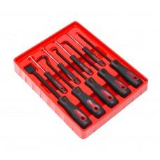 Scraper and pick-hook kit: hooks, awl, scraper 9pcs (L: 160, 260mm), in blister