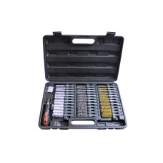 Universal injector saet cleaning brush set 38pcs, in a case