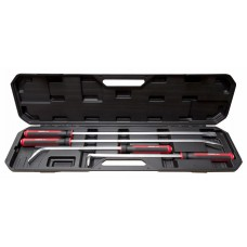 Crowbar set 4pcs (915mm х 30°, 610mm х 70°, 610 х 90°, 915 х 0°), in a case