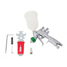 Professional spray gun gravity feed with top plastic tank (250ml, 1.2mm, 2.5bar, 34 l/min, joining t