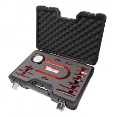 Diesel engine compression tester kit 15pcs (0-70 bar), in a case Premium