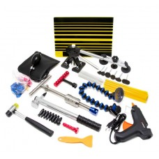 Paintless dents removal tool set with hot air gun 55pcs, in a bag