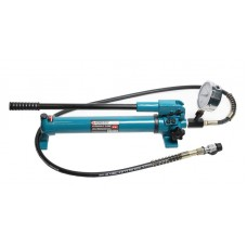 Hydraulic hand pump with pressure gauge (20-700bar, oil volume-1L, length-600mm, width-120mm, height