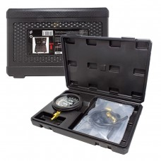 Fuel and vacuum pressure tester with a set of threaded adapters 9pcs, in a case ''Premium''