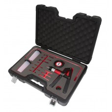 Brake bleeding kit with vacuum pressure pump 21pcs (pressure 0-3bar, vacuum -1 - 0 bar), in a case ''