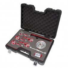 Wheel hub puller sectional with mechanical screws 9pcs, (5 replaceable jaws), in a case