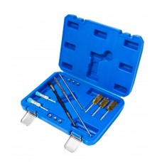 Universal injector saet cleaning brush set 14pcs, in a case