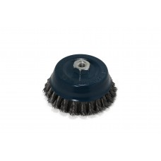 Knotted wire cup brush, steel, for angle grinder 125mm, in blister