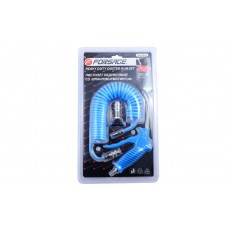 Air duster gun with hose and fitting-adapter for trucks 120mm