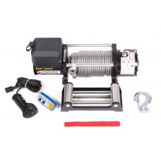 Car electric winch 4.5T, 12V (steel cable)
