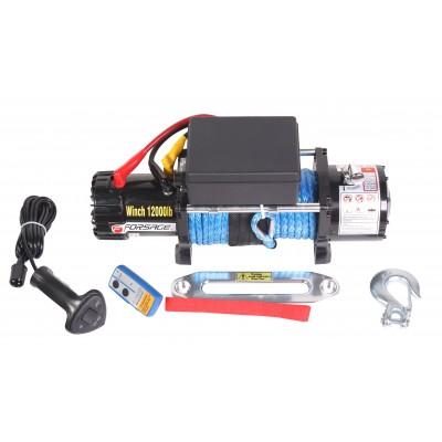 Car electric winch 5.5T, 12V (nylon rope)