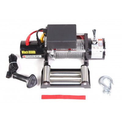 Car electric winch 3.6T 12V (steel cable)