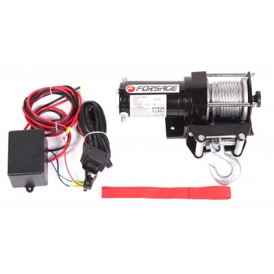 Car electric winch 1.2T, 12V (steel cable)
