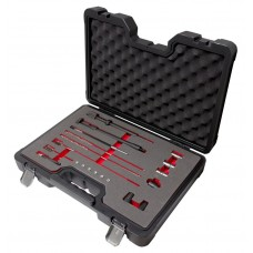 Diesel injector seat cleaner set 20pcs (cutters: 17х17mm-2pcs, 15х19mm), in a case ''Premium''