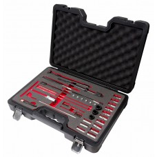 Diesel injector seat cleaner set 35pcs (cutters:14х14,15.5х15.5-2pcs,15х19,17х17-2pcs,17х17.5/19/19.