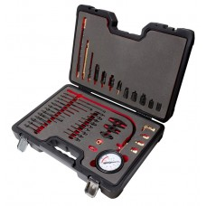 Diesel engine compression tester kit with adaрter set 44pcs (0-40bar), in a case ''Premium''