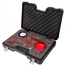 Fuel injector pressure test kit with adaptors 0-140 psi,0-10 bar, in a case''Premium''