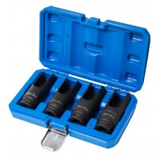 Diesel injector nozzle socket, 4pcs (L-100mm, 25,27,29,30mm), in a case