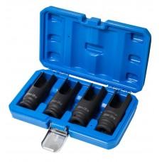 Diesel injector nozzle socket, 4pcs (L-100mm, 25,27,29,30mm), in a case