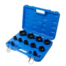 Special socket set for groved nuts 11pcs (Ø:22,26,30,33,37,44,50,56,63,69,75mm), in a case