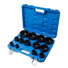 Special socket set for groved nuts 13pcs (Ø:18,22,25,28,32,38,45,52,58,65,70,75,80mm), in a case