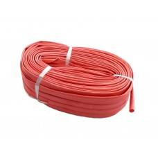 Fiber glass insulation sleeve (red) with acrylic resin plating FA(F), (155°,>800V) 10mm