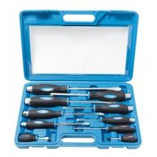 Magnetic go-through screwdriver set ''Profi''10pcs (SL:6.5х38mm, 5.5х100mm, 6.5х125mm, PH:1х38mm, 1х7