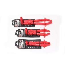 Lock grip pliers for pipelines, plastic, with fixator curved 90°(L-155mm), in plastic holder