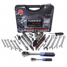 Tool set 82 + 6pcs 1/4'', 1/2'', 6 point + bit-socket 1/4''T40