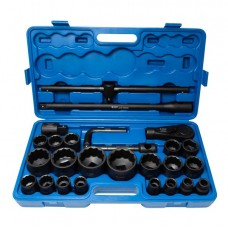 Air impact socket set 26pcs 3/4'', 1'', 12 point (17, 19, 22, 24, 27, 30, 32, 33, 34, 35, 36, 36 - 6 p