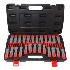 Universal terminal release cable extractor tool set 25pcs, in a case
