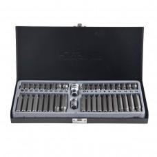 Set of bits with bit holder 42pcs 10mm (75/30mm: TH:20,25,30,40,45,50,55,60,70, Ribe:m4,m5,m6,m7,m8,