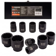 Impact socket set 12 point,10pcs, 3/4''(17,19,22,24,27,30,32,36,41,46mm), in a metal case