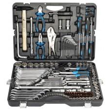 Набор инструментов 142+6пр. 1/4''3/8''1/2''(6-гран.)(4-36мм, 27,30,32,36-12гр.)+(ключи трещоточные:8х10,12х13,14х15,16х17,18х19мм, бокорезы-7'')