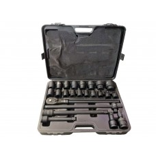 Impact tools set 24pcs, 3/4'', (17-19-21-22-24-27-30-32-33-34-35-36-38-41-46-50mm)