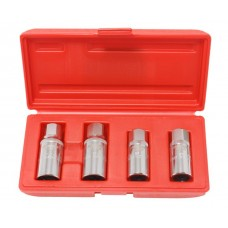 Roller stud extractor set 4pcs (6, 8, 10, 12mm) in plastic case
