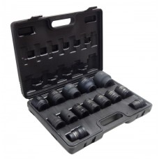 Impact socket set 3/4''14pcs (17,19,21,22,24,27,30,32,34,35,36,41,46,50), in a case