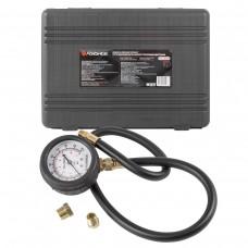 Тестер давления масла в наборе с резьбовыми адаптерами 3пр., (0-7bar), в кейсе