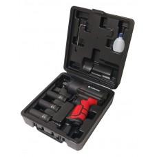 Пневмогайковерт ударный''Twin Hammer''с регулировкой усилия в облегченном корпусе 1/2''+набор головок(17,19,21мм,1450Hм,7000об/мин,6.3bar,198л/мин,вес