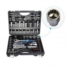 Набор инструментов 94+6пр. Premium 1/4''1/2(12гр.) 1/2''(17,19,21мм-6гр.)