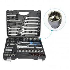 Набор инструментов 82+6пр. Premium 1/4''1/2(12гр.) 1/2''(17,19мм-6гр.)