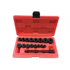 Universal clutch aligning kit 17pcs, in a case