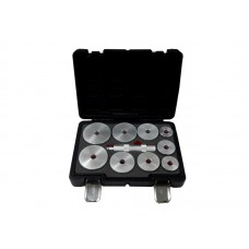 Wheel bearing race and seal driver set 10pcs (39.5, 44.5, 50, 59, 63, 65, 72, 76, 81mm), in a case ''