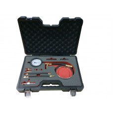 Fuel injector pressure test kit 10pcs (0-7 bar), in a case