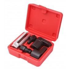 Oxygen sensor socket and thread chaser set 5 pcs (sockets - 22mm, taps - m12х1.25, m18х1.5), in a ca