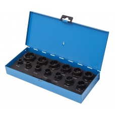 Drive twist socket set 14pcs, 3/8'', 1/2''(10-14, 16-19, 21, 22, 24, 27mm), in a case