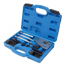 Diesel injector removal tool set for PSA HDI, in a case