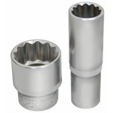 Flank socket 3/8'', 12 point, 19mm