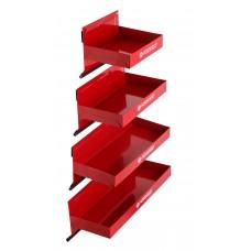 Magnetic parts tray set 4pcs (110х150mm, 110х210mm, 110х270, 110х310mm), in blister
