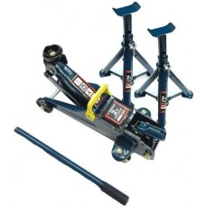 Floor jack 2T (h min 130mm, h max 330mm) with accessories set